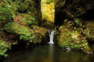 奈良井谷途中の滝