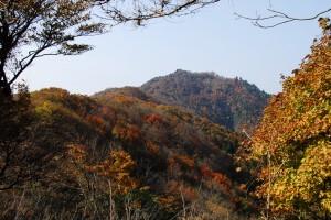 近くの奈良井谷の紅葉